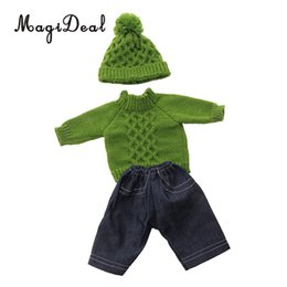 $enCountryForm.capitalKeyWord NZ - 18inch American Doll Festival Party Clothing - Lovely Sweater Knitted Tops & Jeans Pants Hat Outfits For Our Generation Doll