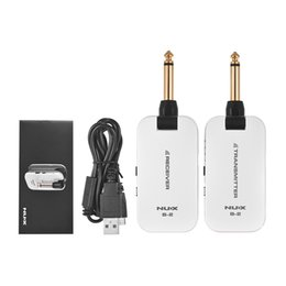 Guitar Audio Australia - 2019 NUX B-2 Electric Guitar Wireless Transmitter Receiver System Portable Mini Audio No Cable 2.4G Wireless Guitar System