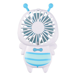 $enCountryForm.capitalKeyWord Australia - Summer Rechargeable Bees Led Fan 2 Speeds Gears Desk PC Summer Cool Electric Gadgets Ventilation Portable Turntable Mini Fan Air Conditioner