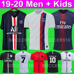 Kids purple shirt online shopping - 2019 Maillots de foot PSG soccer jersey MBAPPE camisa de camisetas de futball football jersey champions shirt men kids kits