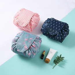 wholesale round cosmetic bag Australia - 10 Colors Multi-function Drawstring Cosmetic Bag Large Capacity Portable household Storage bag Outdoor travel bag