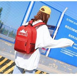 Wholesale 2018 Luminous Backpacks Cartoon Fortnite Backpack Battle Royale School Bag Student Shoulder Storage Bag Outdoor Bags