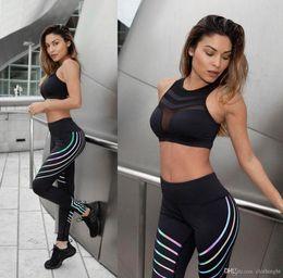 $enCountryForm.capitalKeyWord NZ - Womens Workout Leggings High Waist Tummy Control Yoga Running Pants Non See-Through Fabric