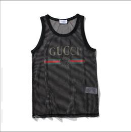 Diseñador para hombre sin mangas con letras deporte culturismo marca gimnasio ropa de lujo chalecos ropa perspectiva hombres ropa interior Tops M-XXL en venta