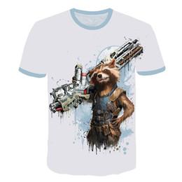 $enCountryForm.capitalKeyWord Australia - Funny 3D Rocket Raccoon Tee Shirt Guardians Of The Galaxy T Shirts Movie Casual Tshirt Men Cute Funky Tops