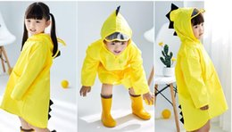 Boys Dinosaur Jacket Australia - Cute Dinosaur Polyester Baby Raincoat Outdoor Waterproof Rain Coat Children Impermeable Poncho Boys Girls Rain Jacket