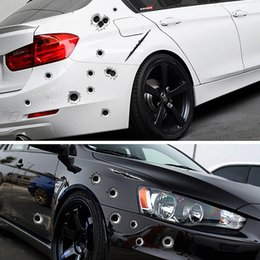 car bullet holes 2019 - Car Stickers 3D Bullet Hole Funny Decal Car-covers Motorcycle Scratch Realistic Bullet Hole Waterproof Stickers