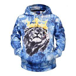 $enCountryForm.capitalKeyWord Australia - Fashion Hoodie Sweatshirts Men 3D King Lion Print Hooded Pullover Tracksuits Unisex Casual Rap Hip Hop Hoody Jacket