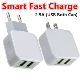android tablet pc charger Australia - US Eu Dual usb Wall charger 5V 2.5A Smart Auto power adapter for iphone 7 8 X Samsung s7 s8 android phone tablet pc