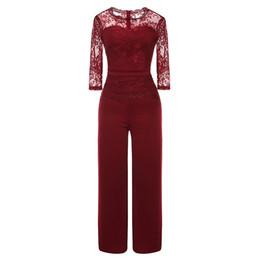$enCountryForm.capitalKeyWord UK - wholesale Ladies' Sexy Seven-quarter Sleeve Jumpsuit Casual Loose Lace Party And Evening Jumpsuit New Women Bodysuit De28