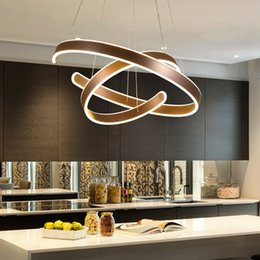 $enCountryForm.capitalKeyWord NZ - AC90-264V Modern pendant lights for living room dining room Geometry Circle Rings acrylic aluminum body LED Lighting ceiling Lamp