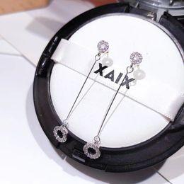 $enCountryForm.capitalKeyWord NZ - Hot Sale Fashionable Rose Gold Long Eardrop Female Temperament Korea Contracted Joker Circle Earring Suits Round Face