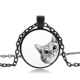 $enCountryForm.capitalKeyWord Australia - Foreign trade explosives hot sale Kitty time gemstone necklace Glass alloy pendant accessories Creative small gift custom wholesale