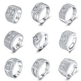 Cluster Rings For Womens Australia - Crystal CZ Diamond Rings Couples Engagement Ring Bridal Wedding Rings For Womens Fashions Cubic Zirconia Rings Party Jewelry Lovers Gifts