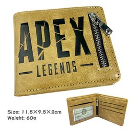 Hot Video Games NZ - Hot Selling Apex Legends Hero Game Short Fold Wallet Zipper Wallet Embossed Wallet Anime Large Capacity Ticket Holder