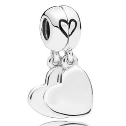 4078eda76 New 925 Sterling Silver Charm Black Enamel Two-piece Mother And Son Love  Pendant Beads Fit Pandora Bracelet Bangle Diy Jewelry