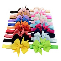 headband packs Australia - 20PCS Pack The European And American Style Baby Hair Band Big Bow Ribbon Dovetail Headband Baby Girl Head Accessories Gift