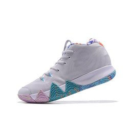$enCountryForm.capitalKeyWord Australia - Mens Kyrie basketball shoes for sale White Blue Power Female Lucky Charm Green Wheat kids Kyries Irving 4 IV sports sneakers tennis with box