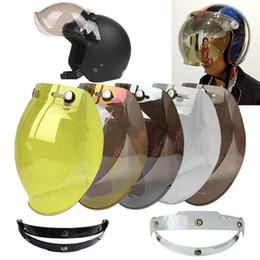 $enCountryForm.capitalKeyWord NZ - Helmet Bubble Visor Top Quality Open Face Motorcycle Helmet Visor 12 Color Available Vintage Helmet Windshield Shield