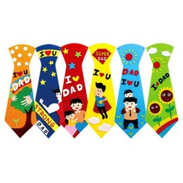 $enCountryForm.capitalKeyWord UK - Kids DIY Ties Crafts Kindergarten Children Handmade Tie Educational Toys Fathers Day Gift Child Non Woven Clothing Material Set