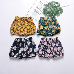 big girls short pants NZ - 0-24M Toddler Girl Bread Pants Infant Big PP Shorts Kid Cotton Bedding Bloomers Baby Clothing Summer Bottoms Playsuit Clothes