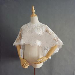 $enCountryForm.capitalKeyWord Australia - Lace Wedding Boleros DQG256 Wedding Shawl 3D Appliques Ivory Wedding Jackets Accessories
