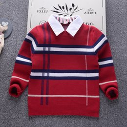 New England Clothes Australia - good quality England Style Autumn Winter Cotton Sweater Cotton Warm Children Clothing Boys Girls Knitted Sweater Kids Spring Wear New