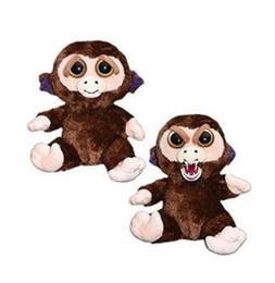 Cute Anime Cartoon Australia - 20CM Cute Face Change Feisty Pets Animals Doll Kawaii Plush Toys Cartoon Monkey Animals Anime Stuffed Animals for Baby Christmas Gift