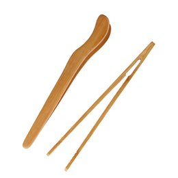 new cooking gadgets Australia - New 18cm Bamboo Wood Tea Tongs Food Toast Bacon Sugar Tea Tongs Salad Clip Tweezer Cooking Utensil Gadget Kitchen Tool
