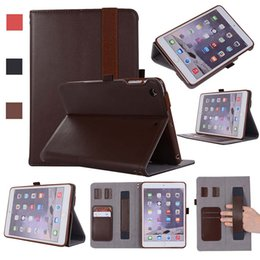 Mini Tablet Wifi Australia - Classic Genuine Leather ipad Cover Case For iPad Mini 1 2 3 AIR 9.7 with Stand Shockproof Real Leather Tablet Case Shell