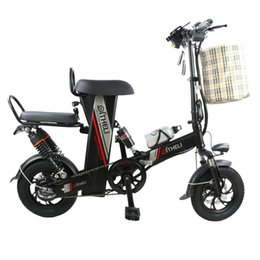 b527da0f3e9 mini electric bike 12-inch power folding scooter adult small generation  drive electric bicycle lithium battery electric bike