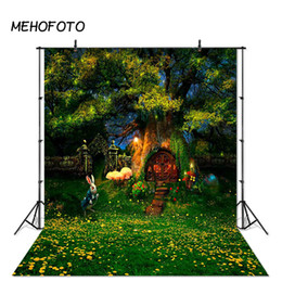 spray painted backdrop 2019 - Fairy Tale Woodland Photography Background Forest Bunny Easter Children Party Photo Studio Backdrops Photobooth Props ch