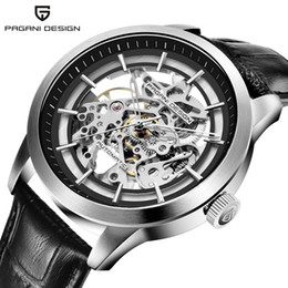pagani design watches 2021 - PAGANI DESIGN Brand Hot Sale 2019 Skeleton Hollow Leather Men's Wrist Watches Luxury Mechanical Male Clock New Relo
