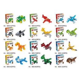spelling puzzle NZ - Novelty Dinosaur Building Block Bricks Toys 16 Style Small Particles Puzzle Spelling Assembling Kids Intelligence Toy Gifts