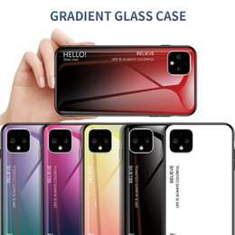 Asus rose online shopping - Slim Colorful Gradient Tempered Glass Case For Google Pixel XL A XL A XL ASUS ZB601KL ZB631KL ROG2