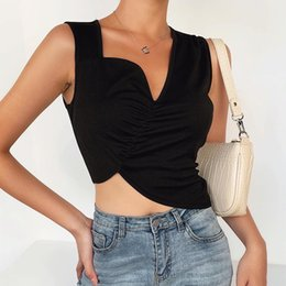 halter neck blouse women Australia - Women Blouses Sexy Leopard Folds Ladies Shirts And Tops Halter Blouse Sexy Sleeveless Tops Slim Womens Clothing Summer Female Blouses
