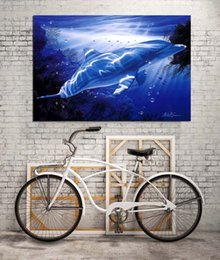 vision print Australia - HD Printed Animals Oil Painting Home Decoration Wall Art on Canvas Dolphin Vision Unframed