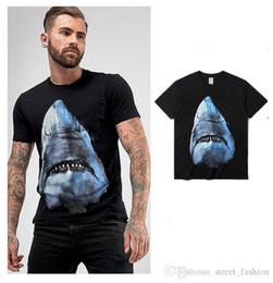 $enCountryForm.capitalKeyWord Australia - Designer brand 2019 new fashion hip hop men and women couples cotton white shark 3D printing short-sleeved T-shirt Europe and America luxury