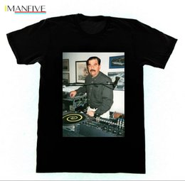 best t shirt brands men Australia - 2019 New Fashion Brand Tops Male Tshirt Men Dj Saddam Hussein T-Shirt Technics 1200 Iraq House Edm Hip Hop Best T-Shirts