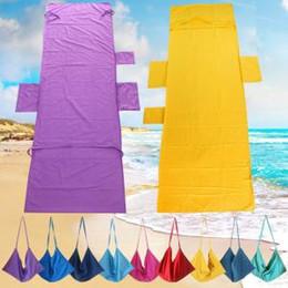$enCountryForm.capitalKeyWord NZ - Portable Beach Chair Cover Towel Microfiber Fiber Magic sunbath Summer Lounger Bed Mate Outdoor with Pocket 215x75cm PPA154
