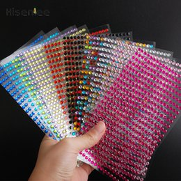 gems stickers Australia - 437Pcs sheet 4mm Self Adhesive Rhinestones Acrylic Stickers DIY Decal Scrapbooking Stickers Mobile PC Decor Sparkle Gems Craft