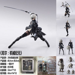 $enCountryForm.capitalKeyWord Australia - 14cm Nier Automata Yorha No. 2 Type B 2b Fighting Action Figure Pvc Toys Collection Doll Anime Cartoon Model For Christmas Gift J190722