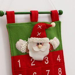 $enCountryForm.capitalKeyWord Australia - Christmas decorations velvet hot flower old man calendar Christmas calendar hotel lobby home hanging bag can hold things