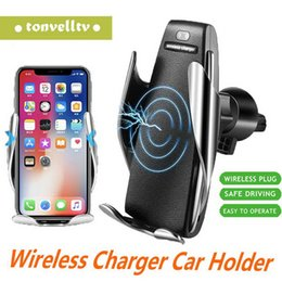 wireless power bank iphone Australia - Magic Clip S5 Wireless Charger Back clip Infrared induction wireless mobile phone power bank for vehicle for iphone samsung