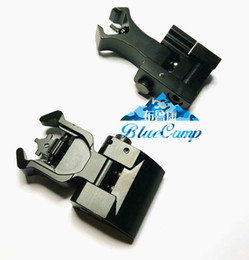 Chinese  Flip up Front Rear Iron Sight Set Dual Diamond Shape BUIS for 20mm Mount of Hunting Airsoft Accessories manufacturers