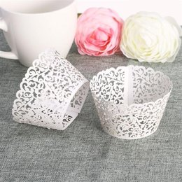 $enCountryForm.capitalKeyWord Australia - Lace Laser Cut DIY Baking Fondant Cupcake Wrapper Liner Baking Cup Hollow Paper Cake Cup Tool