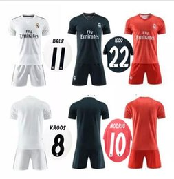 2cfd21667 18 19 Real Madrid home away soccer jersey Men kits 2018 2019 Campeones  MODRIC Asensio BALE ISCO away 3rd red adult football shirt uniforms