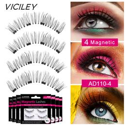 fff4f10e74e 7 Styles 4 Magnets Eyelashes 4pcs box Handmade 6D Magnet Lashes Natural  False Eyelashes Ressuable Eyelash Makeup Tools 2 Style Box