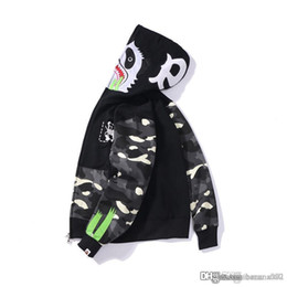 Discount mouse clothes - 19FW Spring and Autumn New Kung Fu Panda Mouse Printed Japanese Tide Night Spot Stitching Sanitary Clothes Men and Women