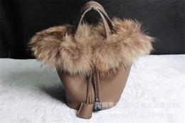 $enCountryForm.capitalKeyWord Australia - Elegant2019 Fox Fund Hair Basket Genuine Leather Single Shoulder Atmosphere Portable Woman Package